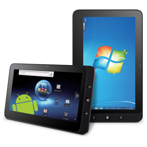 tablets development for android, ipad and windows 7